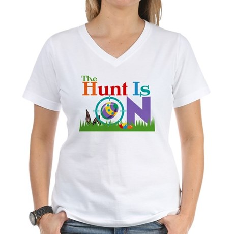The Hunt Is On Women's V-Neck T-Shirt