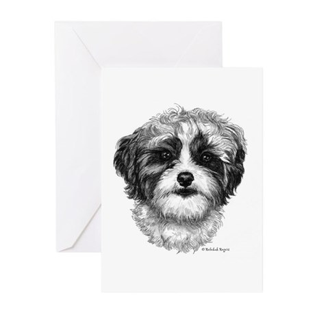 Shih-Poo Greeting Cards (Pk of 10)
