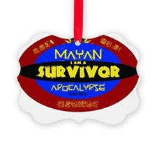 Mayan Apocalypse Survivor Ornament