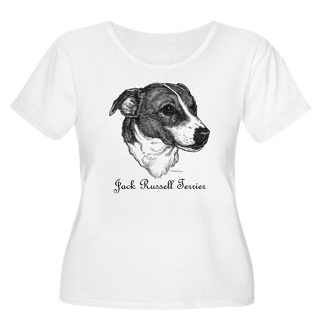 Jack Russell Women's Plus Size Scoop Neck T-Shirt