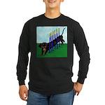An Agility Dachshund? Long Sleeve Dark T-Shirt