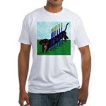 An Agility Dachshund? Fitted T-Shirt