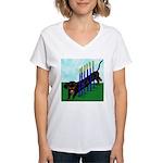 An Agility Dachshund? Women's V-Neck T-Shirt