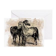 Vintage Horse Love Greeting Card