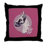 A lovely Harlequin Great Dane Throw Pillow