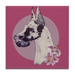 A lovely Harlequin Great Dane Tile Coaster