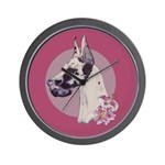 A lovely Harlequin Great Dane Wall Clock