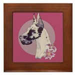 A lovely Harlequin Great Dane Framed Tile