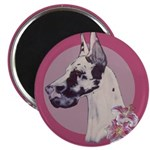 A lovely Harlequin Great Dane Magnet