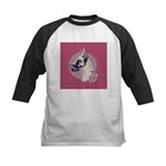A lovely Harlequin Great Dane Kids Baseball Jersey