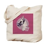 A lovely Harlequin Great Dane Tote Bag