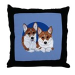 A Corgi Couple Throw Pillow