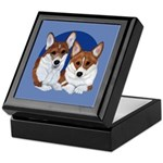 A Corgi Couple Keepsake Box