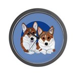 A Corgi Couple Wall Clock