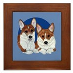 A Corgi Couple Framed Tile