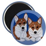 A Corgi Couple Magnet