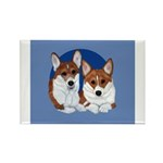 A Corgi Couple Rectangle Magnet (10 pack)