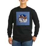 A Corgi Couple Long Sleeve Dark T-Shirt