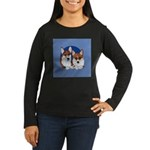 A Corgi Couple Women's Long Sleeve Dark T-Shirt