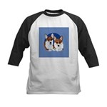 A Corgi Couple Kids Baseball Jersey