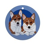 A Corgi Couple Ornament (Round)
