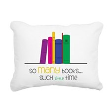 So Many Books Rectangular Canvas Pillow