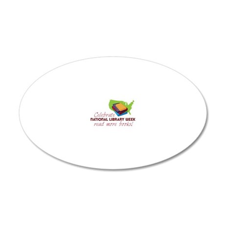 Library Week 20x12 Oval Wall Decal