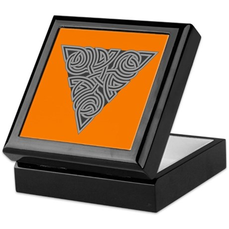 Charcoal Triangle Knot Keepsake Box