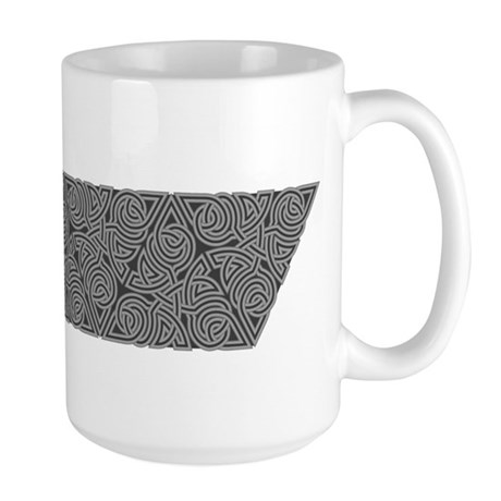 Charcoal Triangle Knot Large Mug