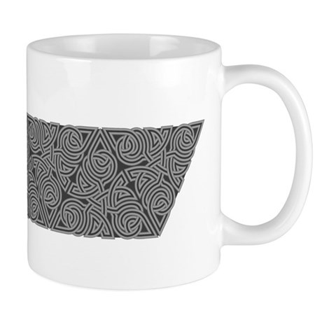 Charcoal Triangle Knot Mug