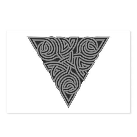 Charcoal Triangle Knot Postcards (Package of 8)