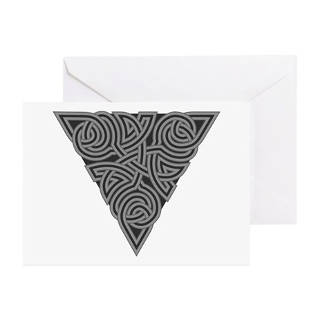Charcoal Triangle Knot Greeting Cards (Pk of 10)