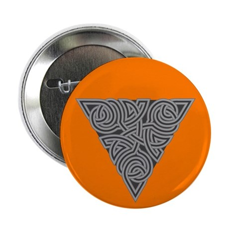 "Charcoal Triangle Knot 2.25"" Button (10 pack)"