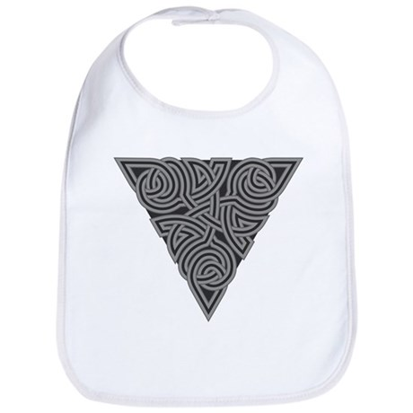 Charcoal Triangle Knot Bib