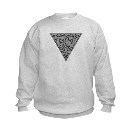 Charcoal Triangle Knot Kids Sweatshirt