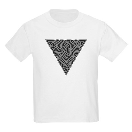 Charcoal Triangle Knot Kids Light T-Shirt