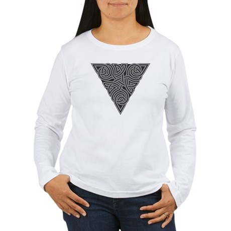 Charcoal Triangle Knot Women's Long Sleeve T-Shirt
