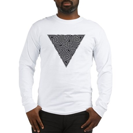 Charcoal Triangle Knot Long Sleeve T-Shirt