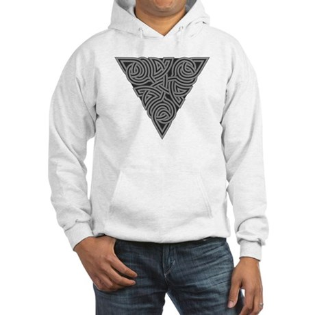 Charcoal Triangle Knot Hooded Sweatshirt