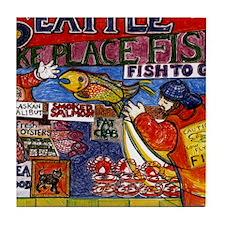 Seattle Fish Market Tile Coaster
