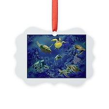 aquarium of sea turtles Ornament