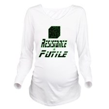 Resistance Is Futile Long Sleeve Maternity T-Shirt