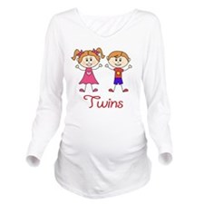 Fraternal Twins Brot Long Sleeve Maternity T-Shirt