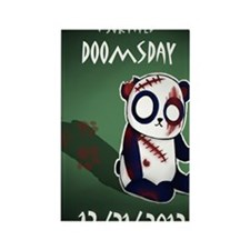 Zombie Panda Rectangle Magnet