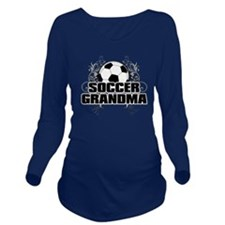 Soccer Grandma (cros Long Sleeve Maternity T-Shirt