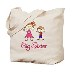 Big Sister with Little Brother Tote Bag