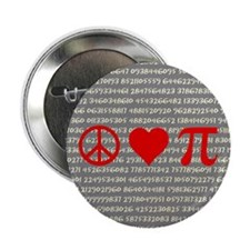 "Peace, Love, and Pi 2.25"" Button (10 pack)"