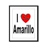I Love Amarillo Framed Panel Print
