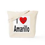 I Love Amarillo Tote Bag