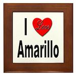 I Love Amarillo Framed Tile